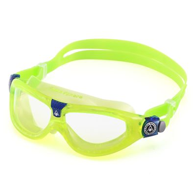 Aqua Sphere Seal 2 Kids Swimming Mask - Clear Lens - Lime