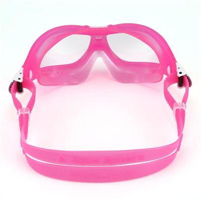 Aqua Sphere Seal 2 Kids Swimming Mask - Clear Lens - Pink - Back