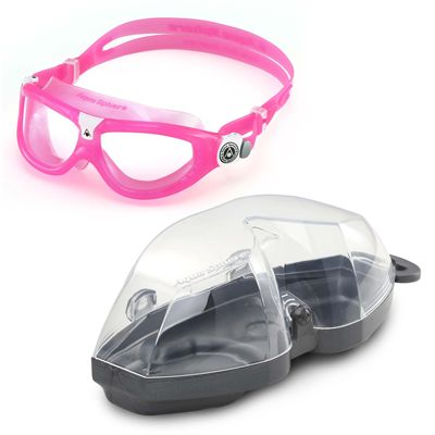 Aqua Sphere Seal 2 Kids Swimming Mask - Clear Lens - Pink - Cover