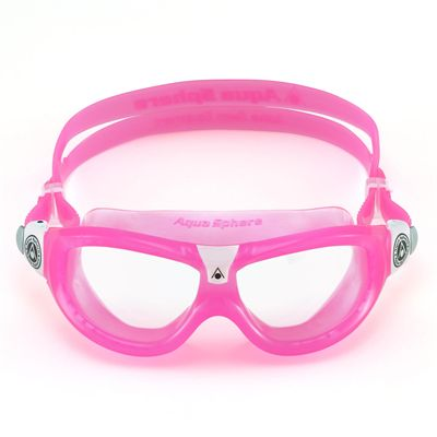 Aqua Sphere Seal 2 Kids Swimming Mask - Clear Lens - Pink - Front
