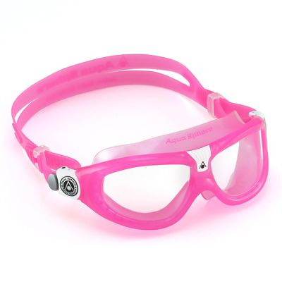 Aqua Sphere Seal 2 Kids Swimming Mask - Clear Lens - Pink - Left