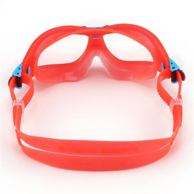 Aqua Sphere Seal 2 Kids Swimming Mask - Clear Lens - Red - Back