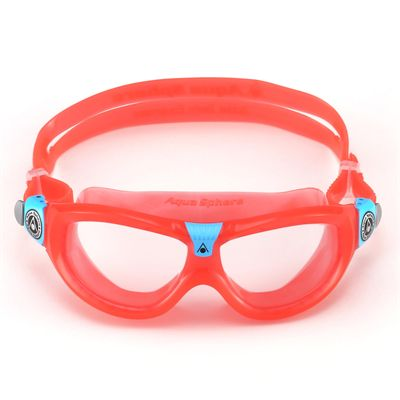 Aqua Sphere Seal 2 Kids Swimming Mask - Clear Lens - Red - Front