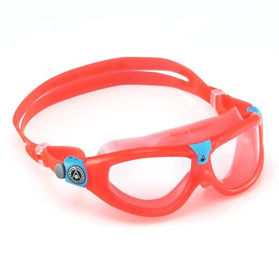 Aqua Sphere Seal 2 Kids Swimming Mask - Clear Lens - Red - Left