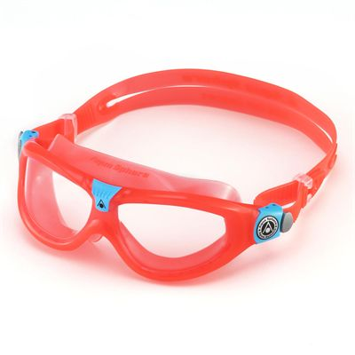 Aqua Sphere Seal 2 Kids Swimming Mask - Clear Lens - Red