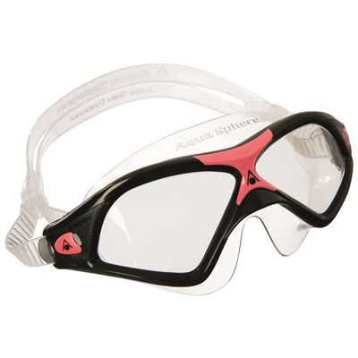 Aqua Sphere Seal XP2 Swimming Goggles - Clear Lens black red