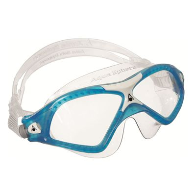 Aqua Sphere Seal XP2 Swimming Goggles - Clear Lens white blue