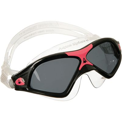 Aqua Sphere Seal XP2 Swimming Goggles-Tinted Lenses-Black Red
