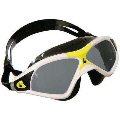 Aqua Sphere Seal XP2 Swimming Goggles-Tinted Lenses-White Yellow Black