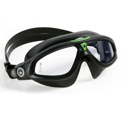 Aqua Sphere Seal XP Goggles with Clear Lens Black Green
