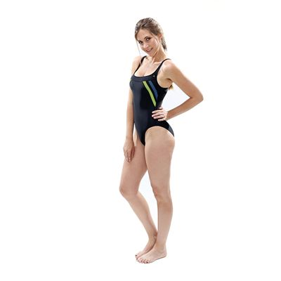 Aqua Sphere Siena Ladies Swimsuit - Black/Green - Model