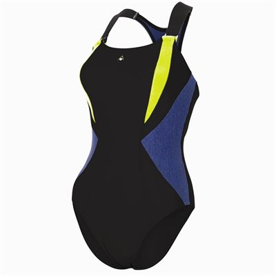 Aqua Sphere Siskin Ladies Swimsuit - Black/Yellow