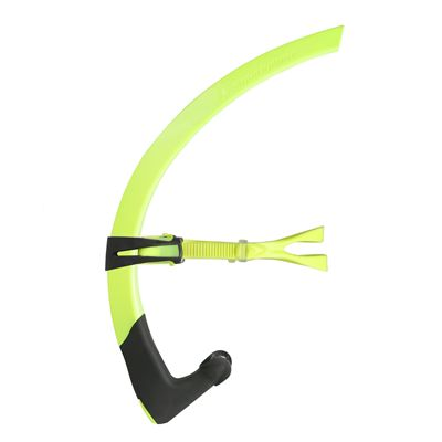 Aqua Sphere Small Focus Snorkel - Yellow/Side