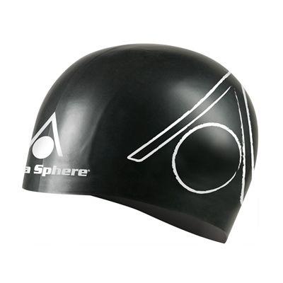 Aqua Sphere Tri Silicone Swimming Cap - Black