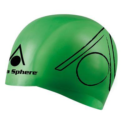 Aqua Sphere Tri Silicone Swimming Cap - green