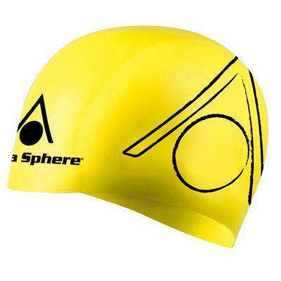 Aqua Sphere Tri Silicone Swimming Cap - Yellow