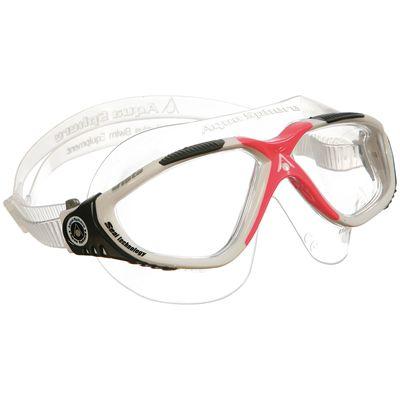 Aqua Sphere Vista Ladies Swimming Goggles-Clear Lens-White/Black/Pink