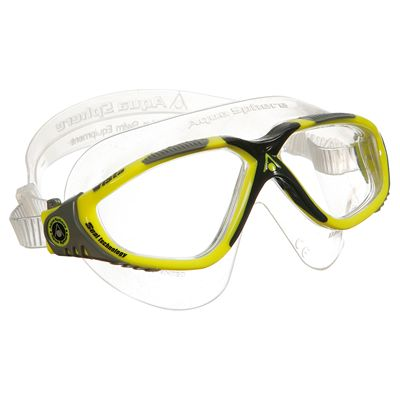 Aqua Sphere Vista Swimming Mask - Yellow/Grey