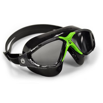 Aqua Sphere Vista Swimming Mask - Tinted Lens - Black/Green