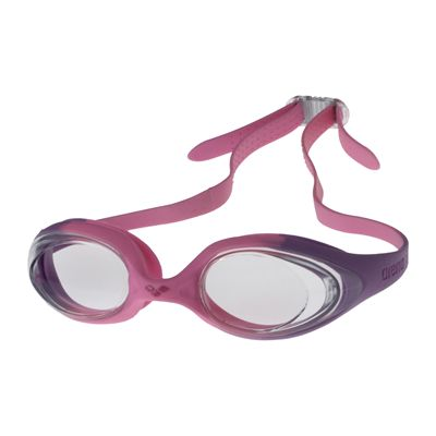 Arena Spider Junior Goggles Violet Clear Pink