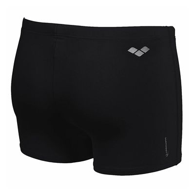 Arena Bynars Mens Swimming Shorts - Black/Silver - Back View