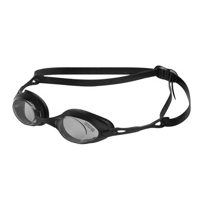 Arena Cobra Swimming Goggles-Smoke and Black-Side View