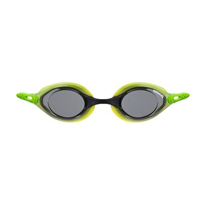 Arena Cobra Swimming Goggles-Smoke and Lime-Front View