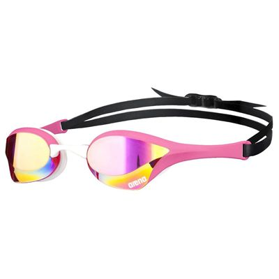 Arena Cobra Ultra Mirror Swimming Goggles-Pink and White