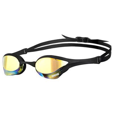 Arena Cobra Ultra Mirror Swimming Goggles-Yellow and Black