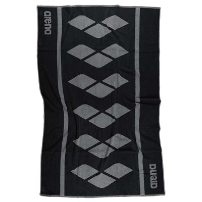 Arena Holly Towel - Black and Silver