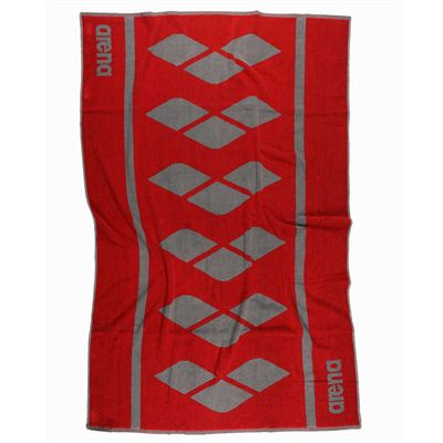 Arena Holly Towel - Red and Silver