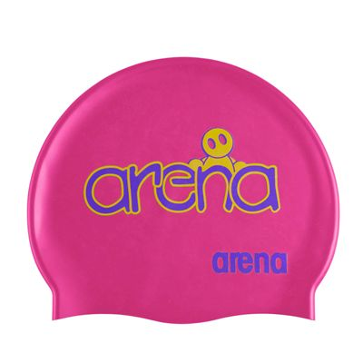 Arena Kum Junior Swimming Cap Fuchsia