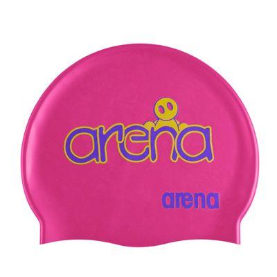 Arena Kum Junior Swimming Cap Fuchsia