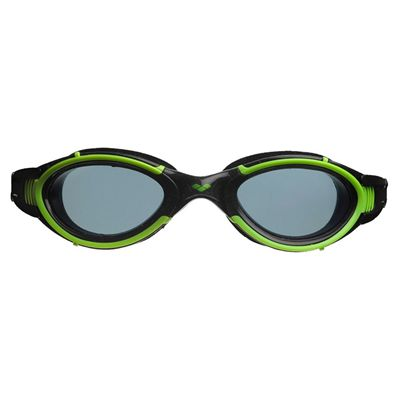 Arena Nimesis Swimming Goggles - Black/Green - Front