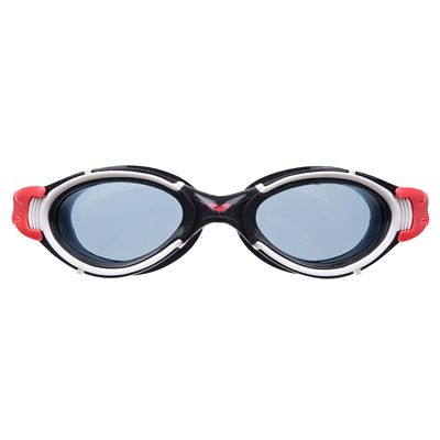 Arena Nimesis X-Fit Swimming Goggles - Smoke/Red/Black - Front View
