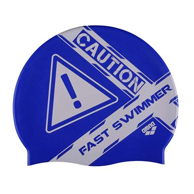 Arena Poolish Printed Swimming Cap - Blue