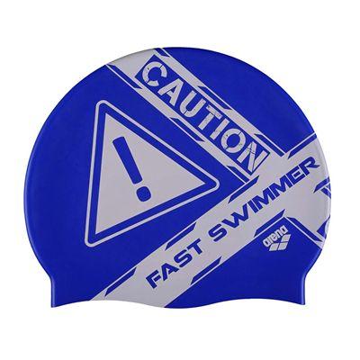 Arena Poolish Printed Swimming Cap - Blue