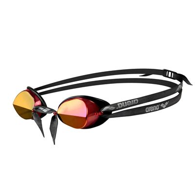 f2e33420157c Arena Swedix Mirror Swimming Goggles-Red and Yellow Lens - Side View