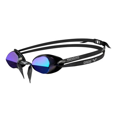 Arena Swedix Mirror Swimming Goggles-Smoke and Blue Lens - Side View