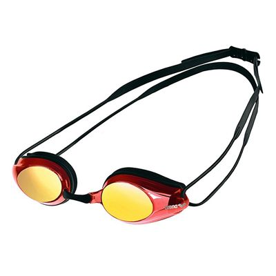Arena Tracks Mirrored Racing Goggles - Black/Red Multi, Black