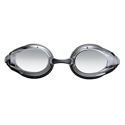 Arena Tracks Mirrored Racing Goggles  - Black/Smoke Silver - Front