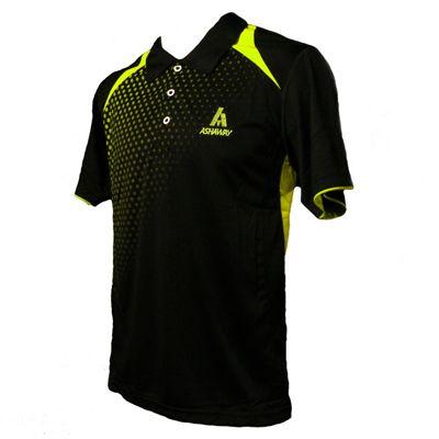 Ashaway ADF 621 Mens Polo-Black-Lime