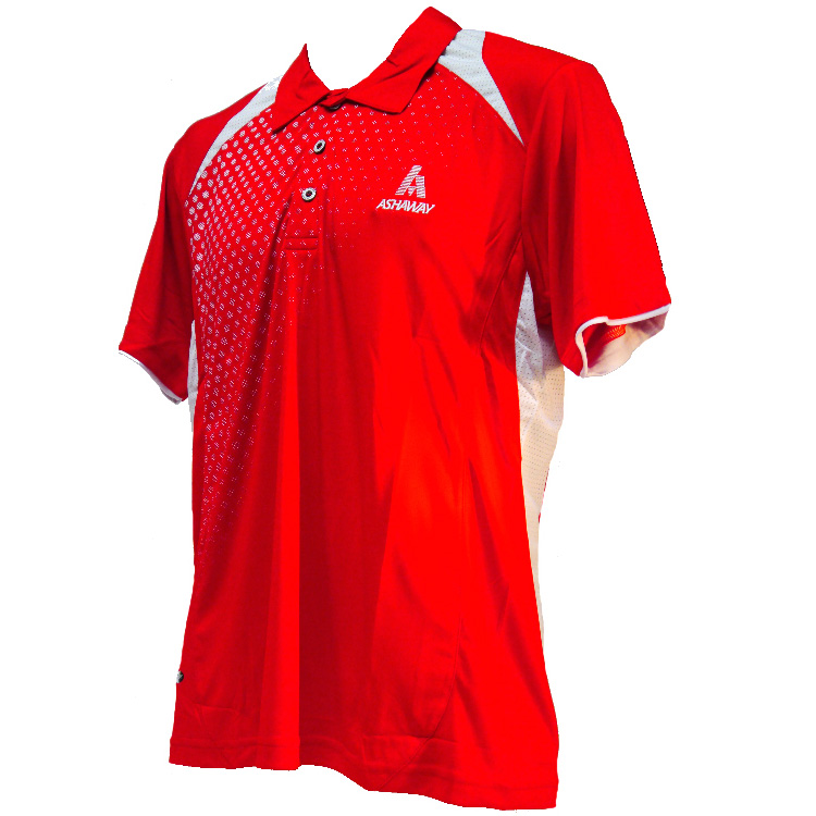 Ashaway ADF 621 Mens Polo - Red/White, L