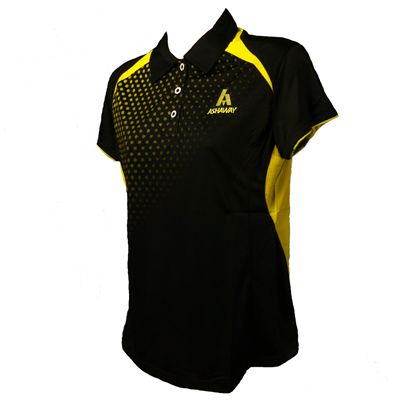 Ashaway ADL 621 Ladies Polo-Black-Lime