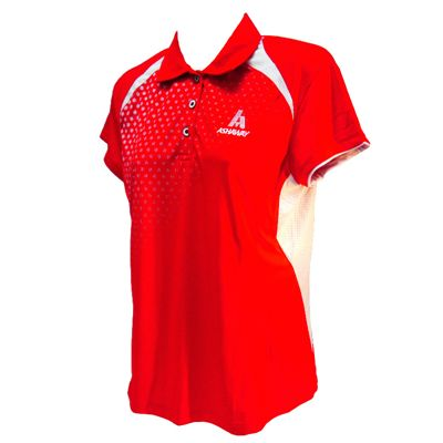 Ashaway ADL 621 Ladies Polo-Red-White
