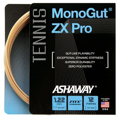Ashaway Monogut ZX Pro Tennis String Set-Natural