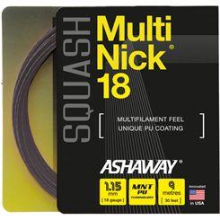 Ashaway MultiNick 18 Squash String Set