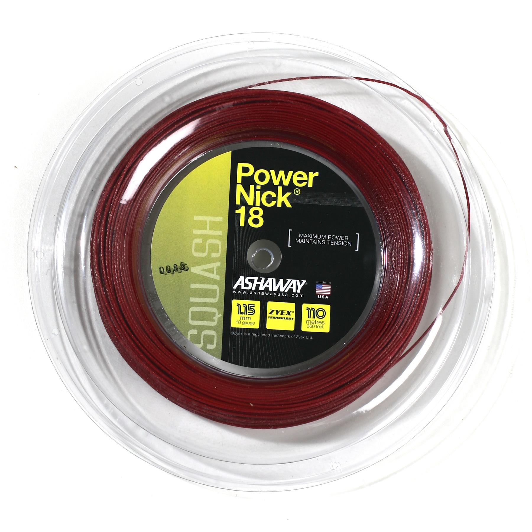 Ashaway PowerNick 18 Squash String – 110m Reel