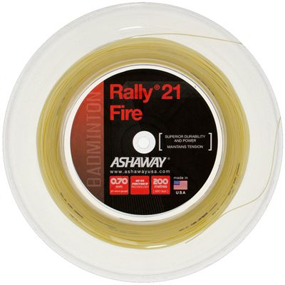 Ashaway Rally 21 Fire Badminton String - 200m Reel - Natural