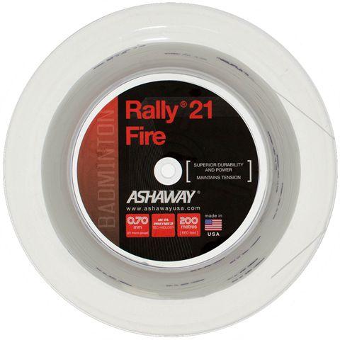 Ashaway Rally 21 Fire Badminton String - 200m Reel